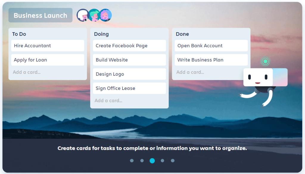 Trello remote working app